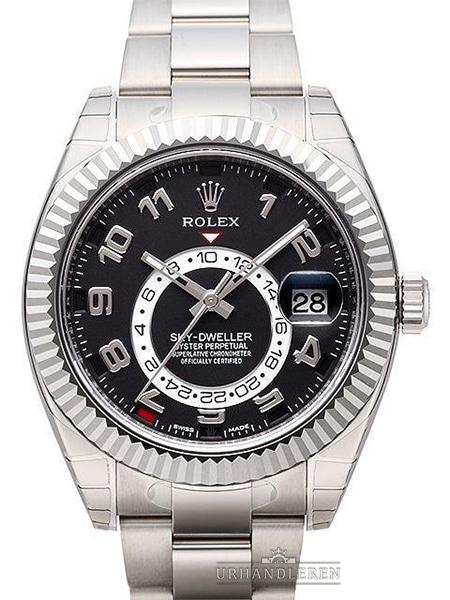 Rolex Sky-Dweller Sort skive 326939 – kopi rolex ure